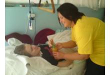 dobrovolník v nemocnici