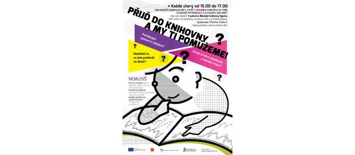 Hledáme dobrovolníky pro pravidelné nízkoprahové doučování dětí v pobočce Městské knihovny Opatov